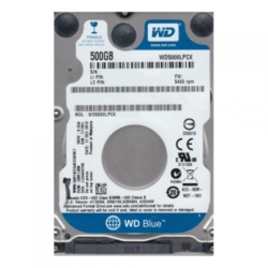"WD BLUE 2.5"" 500GB 32MB 5400RPM WD5000LPCX  7mm, SATA 3, Ultrabook Uyumlu, Notebook Disk"