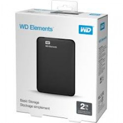"WD 2.5"" 2TB Elements WDBU6Y0020BBK Siyah  USB3.0"